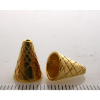 11.4x8.8mm Shiny Gold Cones