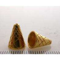 11.4x8.8mm Shiny Gold Cones