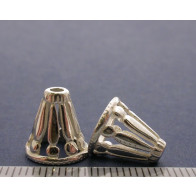 11.6x8mm Shiny Silver Cones