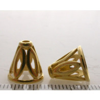 11.5x8.8mm Shiny Gold Cones