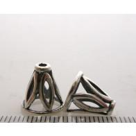 11.5x8.9mm Shiny Silver Cones