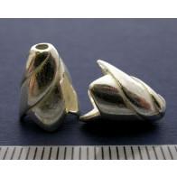 12x7mm Shiny Silver Cones