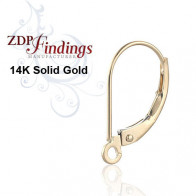 14K Yellow Gold Lever-back Ear Wire