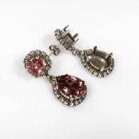 14x10mm 4320 European Crystals Post Rhinestone Earrings