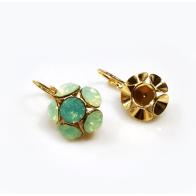 Flower Dangle Earring bases For Gluing European Crystals SS34