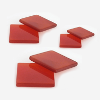 Carnelian Square  Flat, Choose your size.