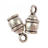 7.00mm Hole Antique Silver End Cap