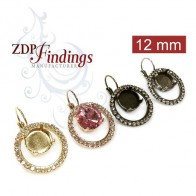 12mm 1122 Swarovski Dangle Rhinestone Earrings,