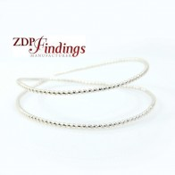 12 Inch Gallery Wire 935 Sterling Silver 1.5mm