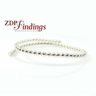 12 Inch Gallery Wire 935 Sterling Silver 3mm