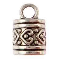 7.20mm Hole Antique Silver End Cap