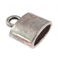 10.00mm Hole Antique Silver End Cap