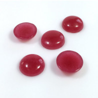 12mm Round Cherry Glass Cabochons