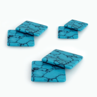 Turquoise Stripes Square Flat, Choose your size.