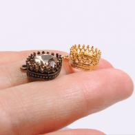 Square 10mm Crown Bezel Pendant Fit European Crystals 4470