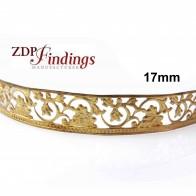17mm Width Brass Gallery Pattern Wire, 24 inch