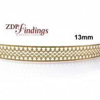 13mm Width Brass Gallery Pattern Wire, 24 inch