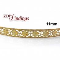 11mm Width Brass Gallery Pattern Wire, 24 inch