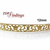 12mm Width Brass Gallery Pattern Wire, 24 inch