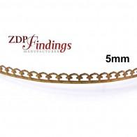 5mm Width Brass Gallery Pattern Wire, 24 inch