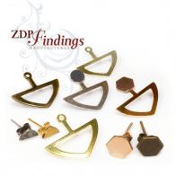 Unique Modern Minimalist Fashion Back Stud Earrings