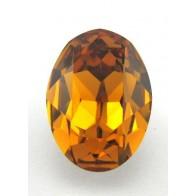 18x13mm 4120 European Crystals Oval Topaz