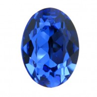 18x13mm 4120 European Crystals Oval Sapphire