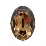 18x13mm 4120 European Crystals Oval Light Smoked Topaz