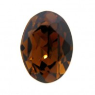 18x13mm 4120 European Crystals Oval Smoked Topaz