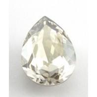 18x13mm 4320 Swarovski Pear Silver Shade