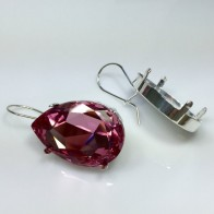 30x20mm 4327 Swarovski Kidney Wire Earrings, Choose your options