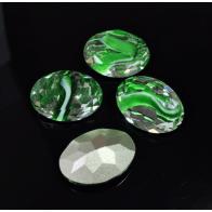Oval 18X13mm Czech Crystals fit Swarovski 4120-Green