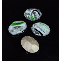 Oval 18X13mm Czech Crystals fit Swarovski 4120-Erinite