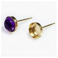 Real 9K Yellow Gold Solid Post Earrings