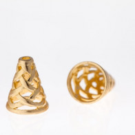 24x17mm Shiny Brass Cones