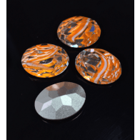 Oval 18X13mm Czech Crystals fit Swarovski 4120-Orange