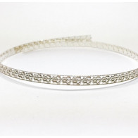 12 Inch Gallery Wire 935 Sterling Silver , 4.8x0.7mm