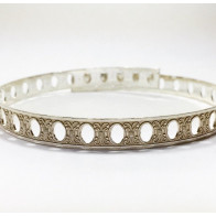 12 Inch Gallery Wire 935 Sterling Silver , 9x0.64mm