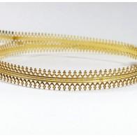 24 Inch Gallery Wire Shiny Brass , 7.5x0.6mm