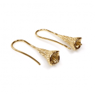 Earrings Micron Gold Plated For Gluing Pearls