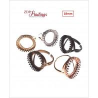 Round 18mm Adjustable Ring Base-Shiny Brass
