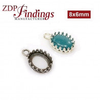 8X6mm Oval 925 Sterling silver Bezel