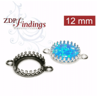 12mm Round 925 Sterling silver Bezel, choose your finish.