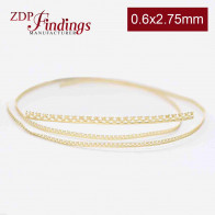 2.75mm x 0.6mm Brass Strip Gallery Decorative Ribbon Wire