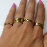 Ring Base Shiny Brass, Choose your ring size.
