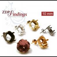 10mm 4470 Swarovski Post Earrings, Choose your finish