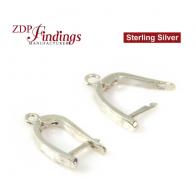 15x10mm Sterling Silver 925 Lever Back drop Dangle earring Base