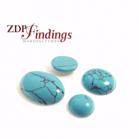 Turquoise Stripes Oval Cabochon, Choose your size.