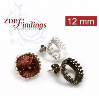 12mm Post Earring, Choose your finish.