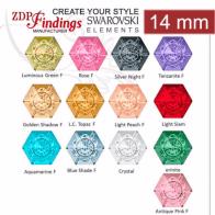 14mm European Crystals Crystal Hexagon 4681